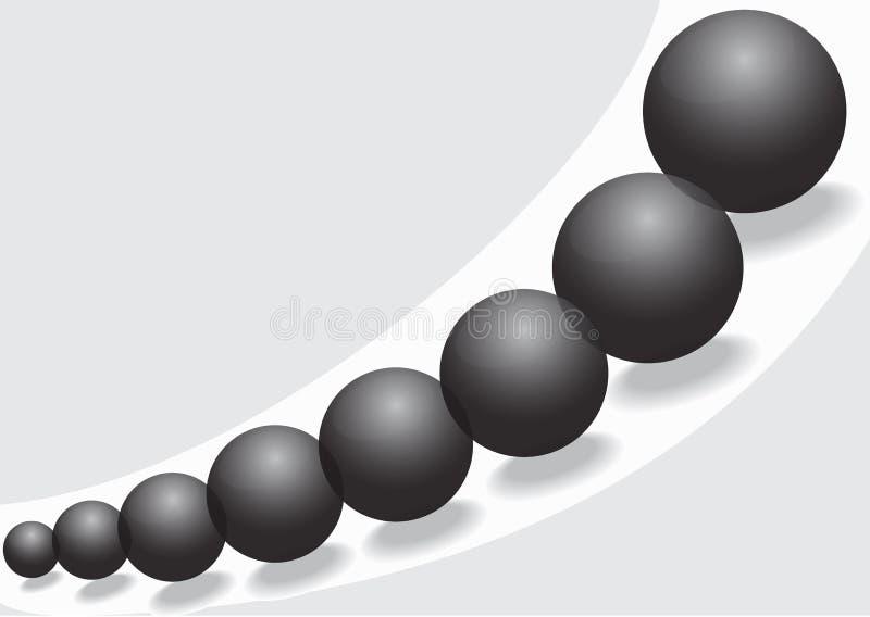 Boules en verre noires illustration de vecteur