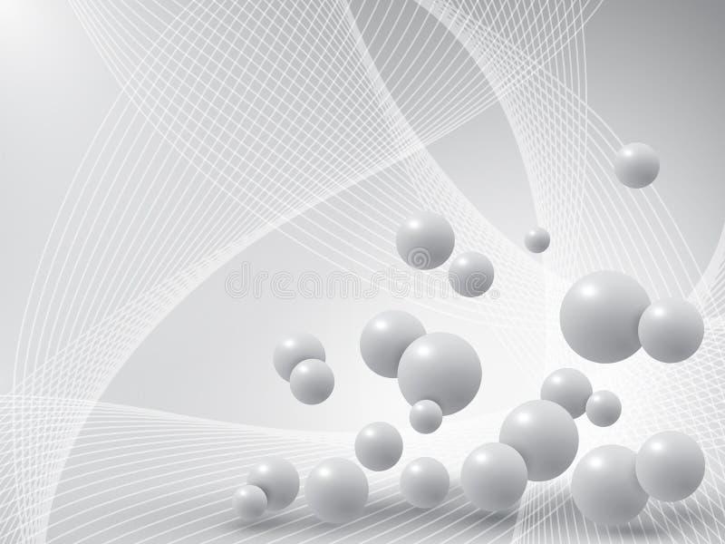 Boules grises sur le fond abstrait illustration libre de droits