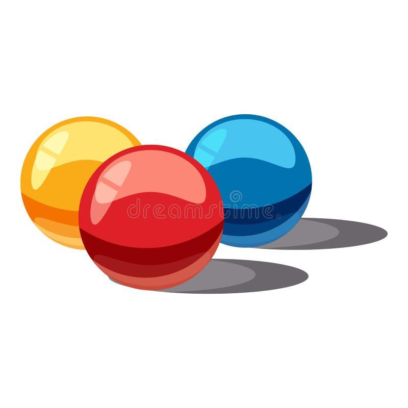 Boules pour l'icône de paintball, style de bande dessinée illustration de vecteur