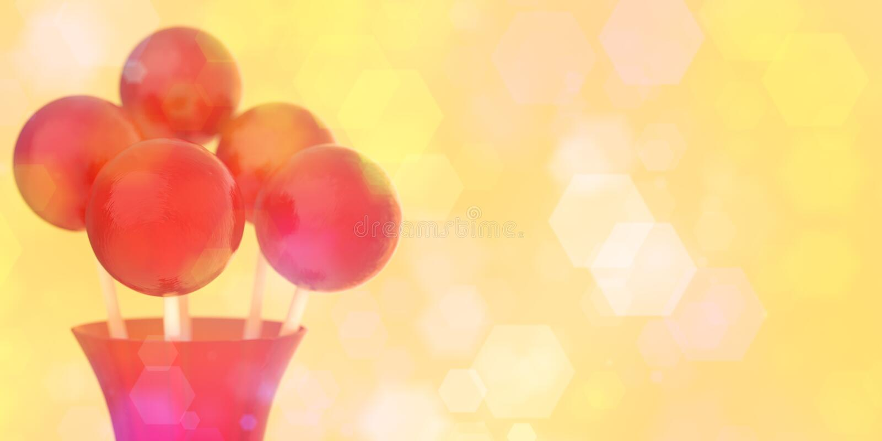 Boules rouges des lucettes sur le bâton dans le vase rouge sur le rétro fond avec le DOF peu profond photos libres de droits
