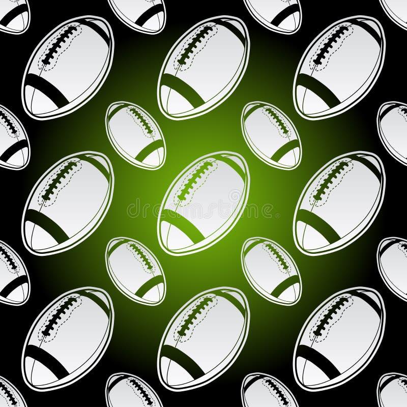 Boules sans couture de football américain illustration libre de droits