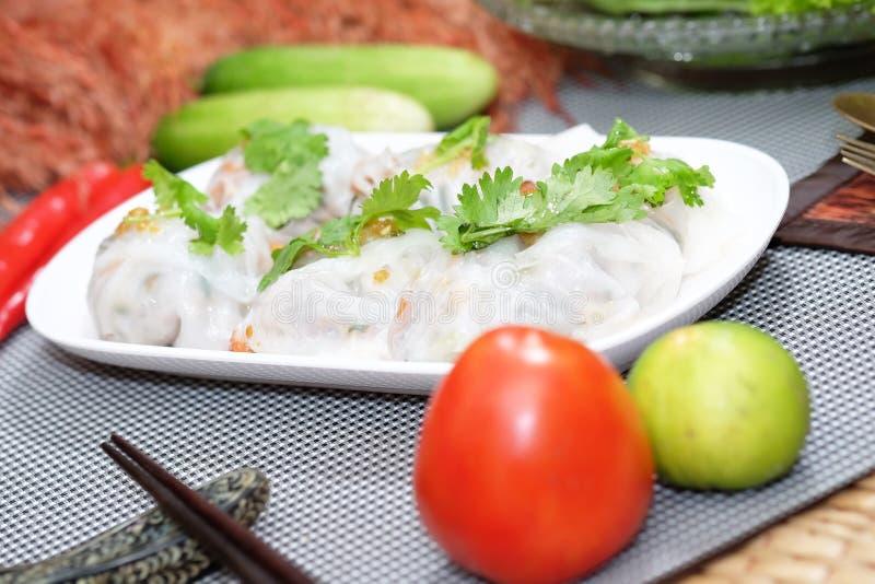 Boulette cuite à la vapeur de tapioca photo stock