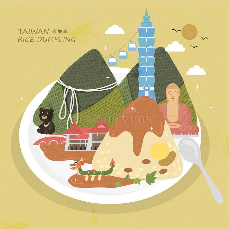 Boulette de riz de Taïwan illustration libre de droits