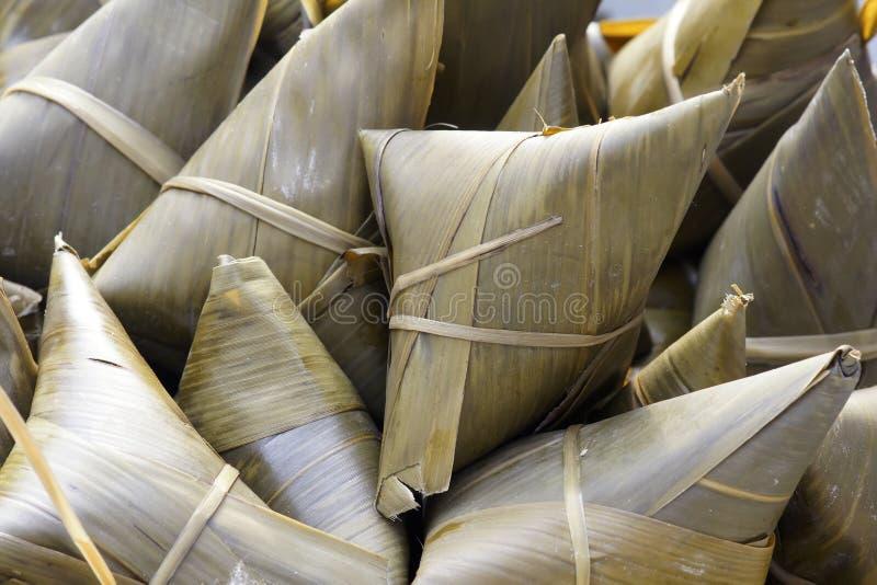 Boulette visqueuse de riz photo stock