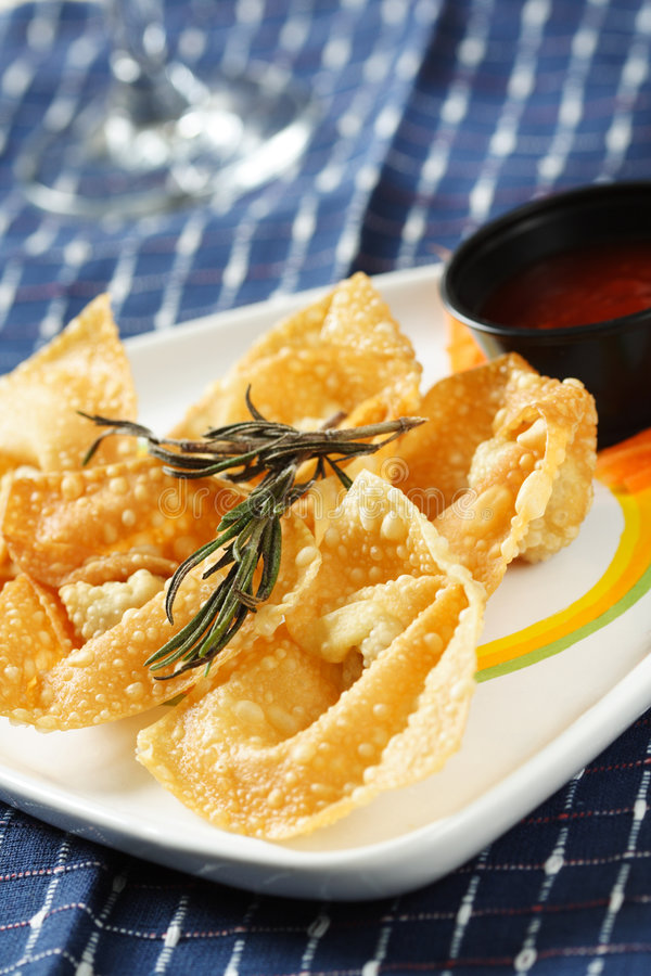 Boulettes chinoises frites photographie stock