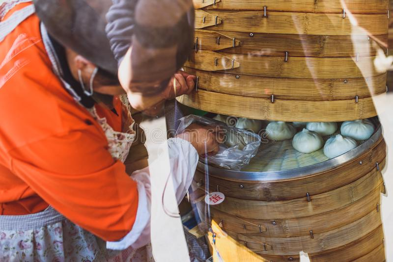 Boulettes cuites à la vapeur chinoises photographie stock