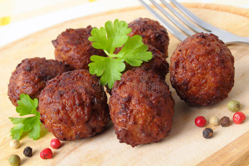 Boulettes de viande photo stock