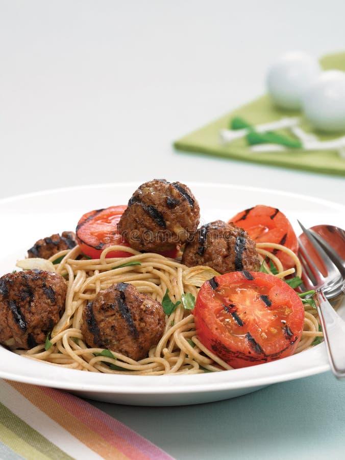 Boulettes de viande de spaghetti image stock