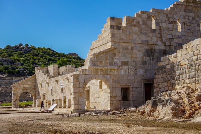 Bouleuterion в древнем городе Patara Pttra Актовый зал публики Lycia индюк стоковые изображения