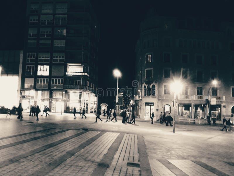 Boulevard bij Nacht royalty-vrije stock foto's