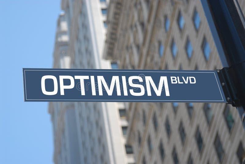 Boulevard d'optimisme photo stock
