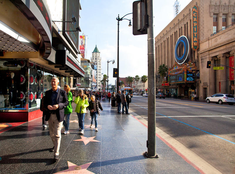 Boulevard de Hollywood images libres de droits