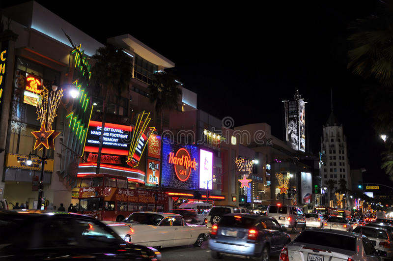 Boulevard di Hollywood immagine stock libera da diritti