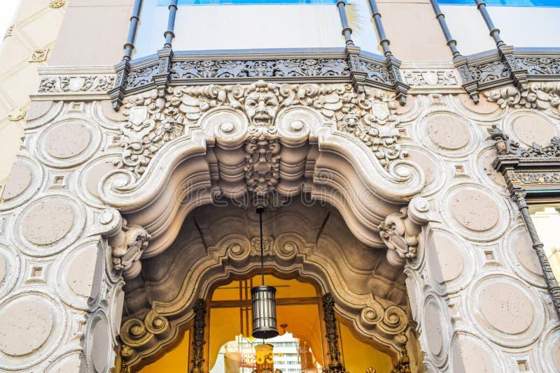 Boulevard di Hollywood del negozio della fontana e del cioccolato di soda di Ghirardelli, Los Angeles, California fotografia stock