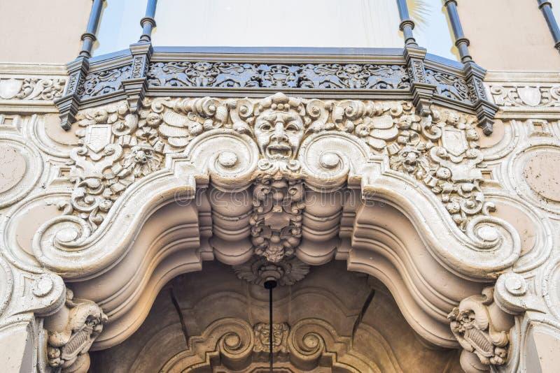 Boulevard di Hollywood del negozio della fontana e del cioccolato di soda di Ghirardelli, Los Angeles, California immagine stock