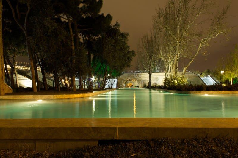 Boulevard di notte fotografia stock