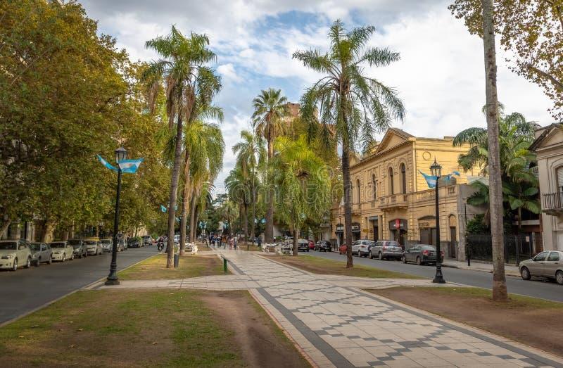 Boulevard di Orono - Rosario, Santa Fe, Argentina fotografia stock libera da diritti