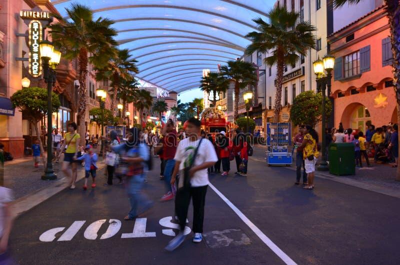 Boulevard di Singapore Hollywood degli studi universali immagine stock libera da diritti