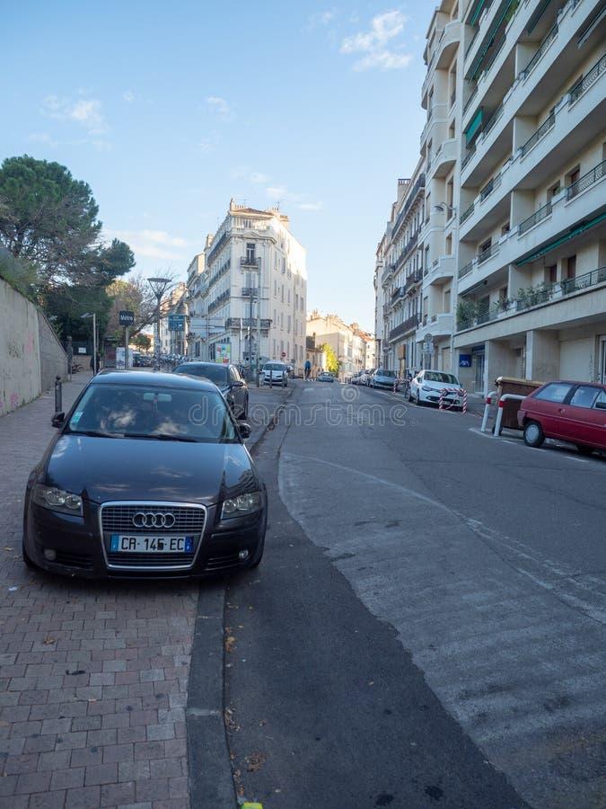 Boulevard du Jardin Zoologique, Marseille images libres de droits