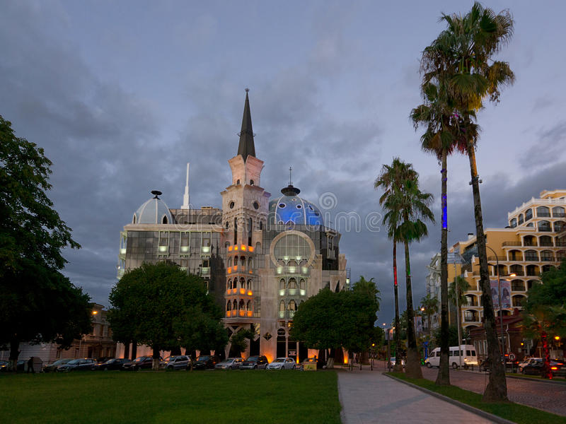 Boulevard Gate. The house is located in the seaside zone, at the entrance of Batumi Boulevard stock image