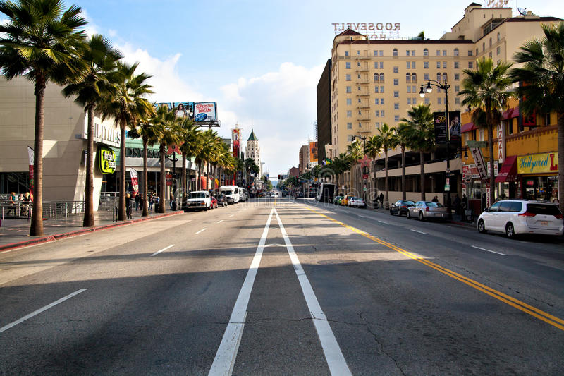 boulevard hollywood royaltyfria foton