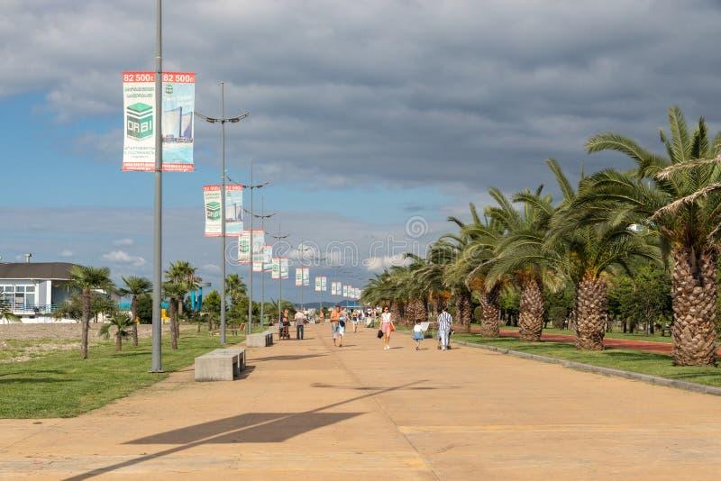 Boulevard i Batumi, arkivbilder