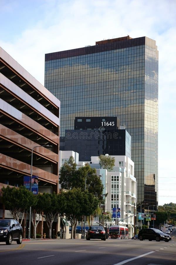 Boulevard Los Angeles de Wilshire image stock