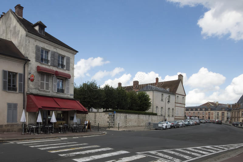 Boulevard Magenta, Fontainebleau, France stock photography