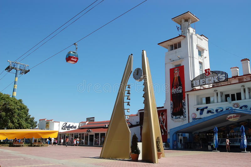 The boulevard in Mamaia. royalty free stock photo