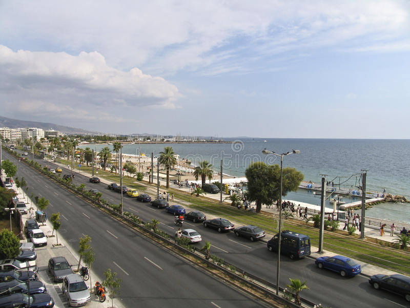 Download A Boulevard Next To The Sea In Athens, Editorial Photo - Image: 24588771