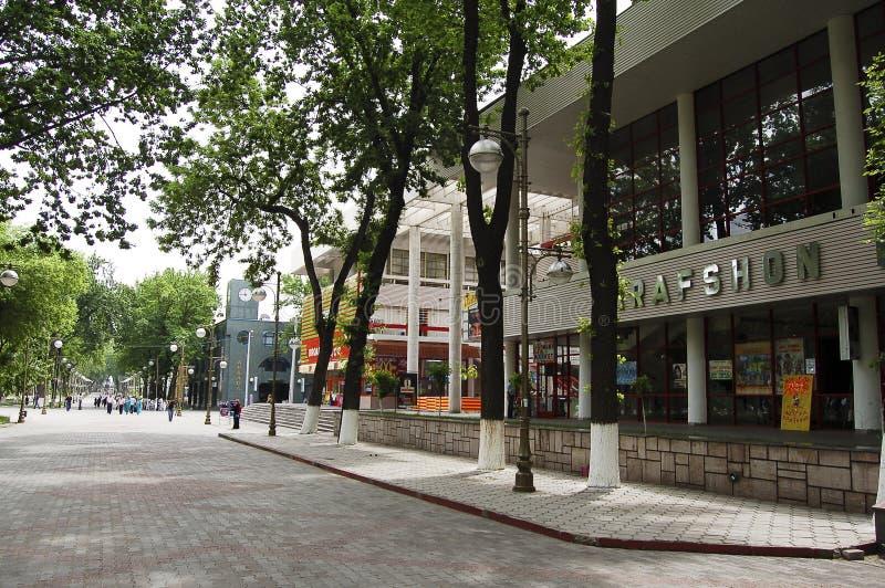 Boulevard principal de Tashkent photographie stock