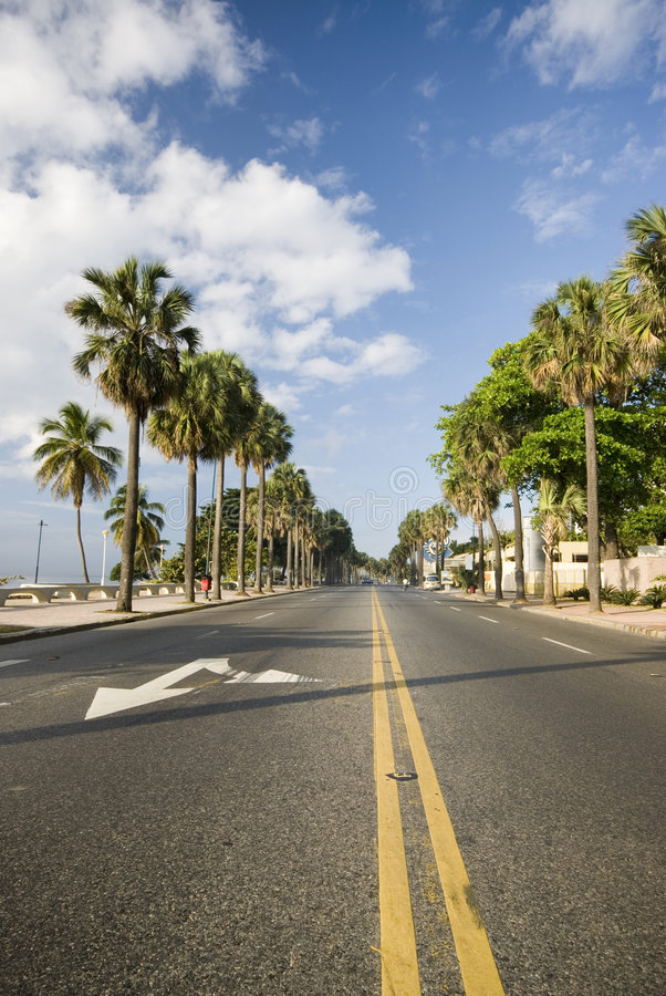 Boulevard santo domingo. The malecon boulevard santo domingo dominican republic royalty free stock photos