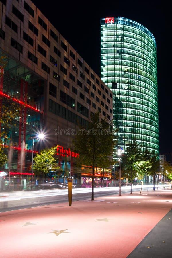 Download Boulevard Stars Postadmer Platz To Night Lighting Editorial Stock Image - Image: 27242344