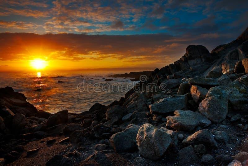 Boulevard van de Mening van Monterey de Oceaan bij royalty-vrije stock afbeelding