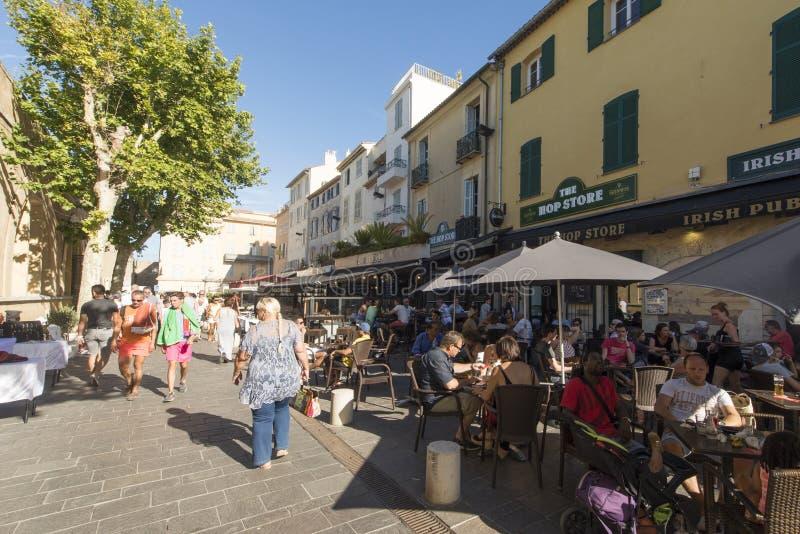 Boulevardd'Aguillon, Antibes, Frankrike royaltyfri fotografi