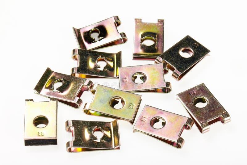 Boulon d'agrafe de zinc image libre de droits