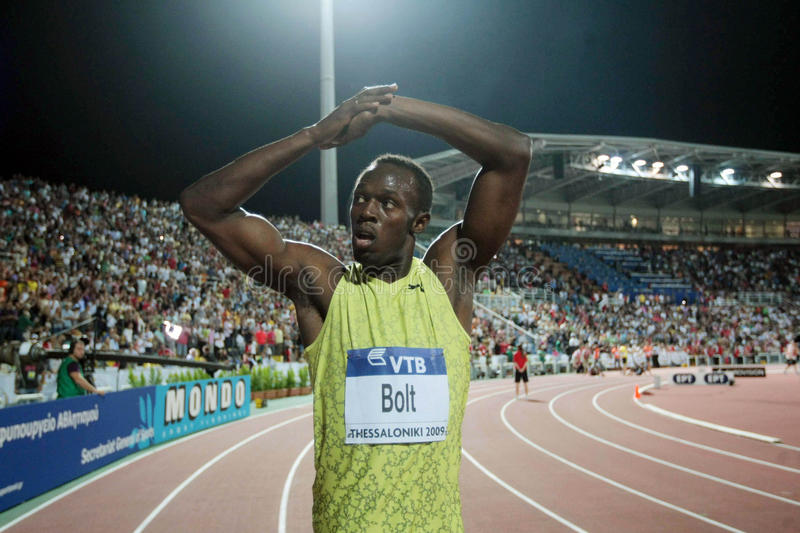 Boulon d'Usain photo stock