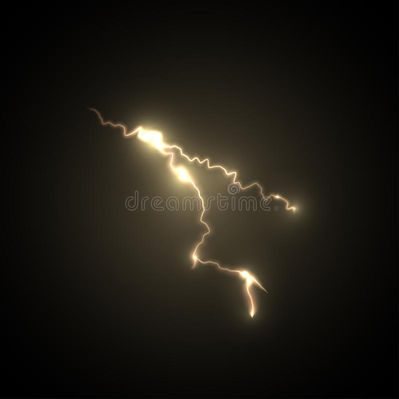 Boulon de tempête de foudre image stock