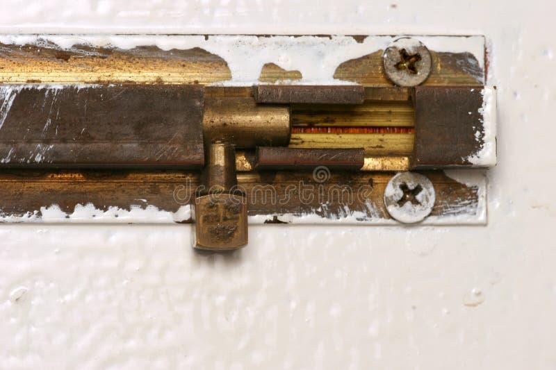 Download Boulon de trappe image stock. Image du fermé, verrouillé - 739959