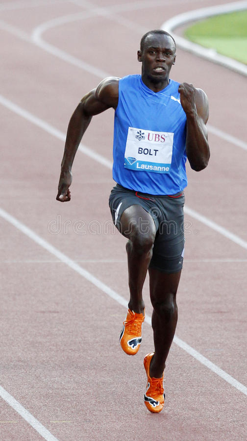Boulon Usain photo libre de droits