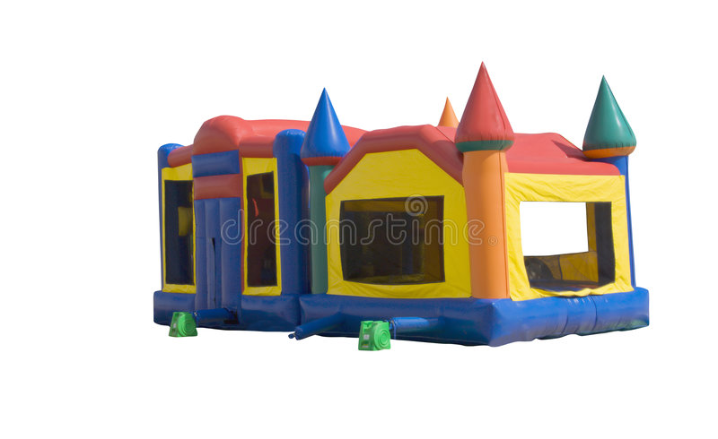 Bounce castle royalty free stock images
