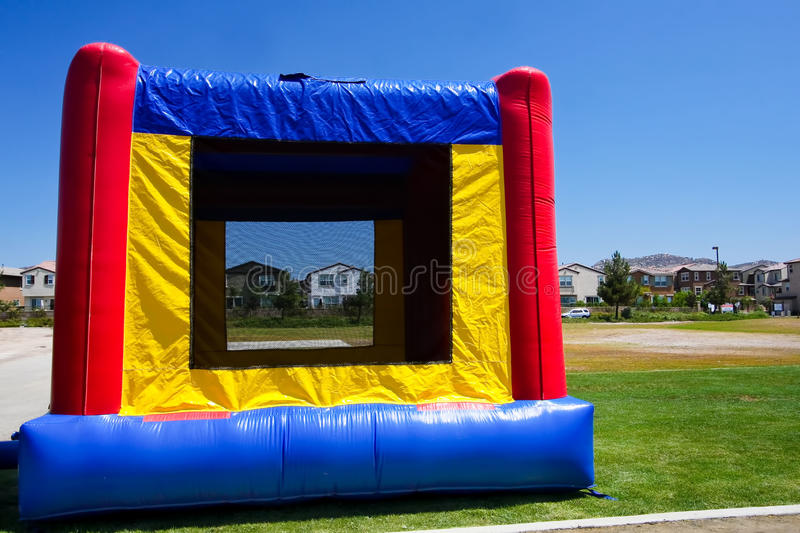 Bounce house or inflatable jump royalty free stock photo