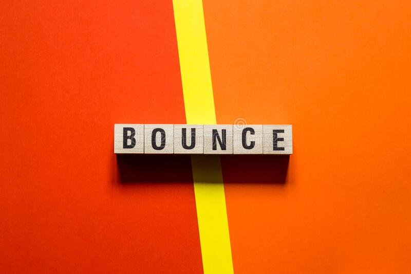 Bounce word concept on cubes.  royalty free stock photography