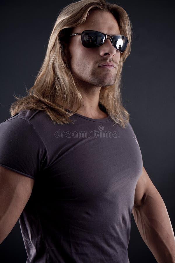 bouncer mężczyzna mięśniowy silny zdjęcie stock