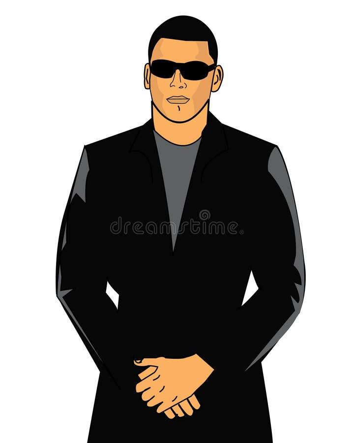 Download Bouncer in suit stock vector. Image of black, dude, club - 18239383