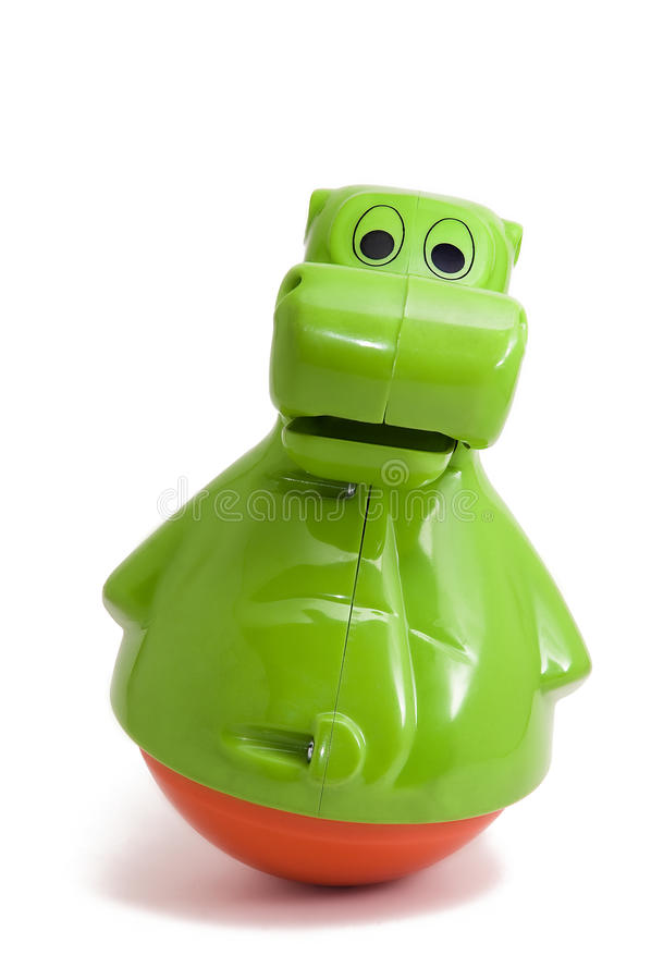 Bouncing baby toy - Hippo royalty free stock images