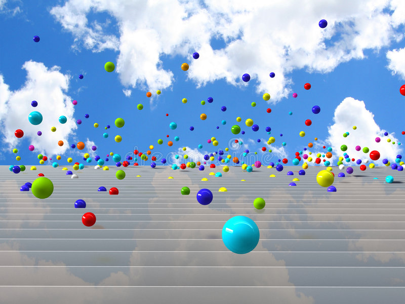 Download Bouncing balls stock image. Image of happiness, clouds - 7438905