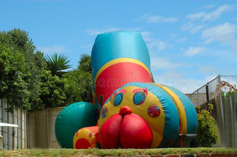 bouncing castle kids 免版税图库摄影