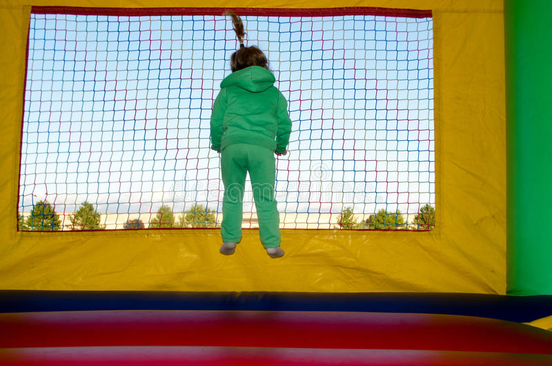 Download Bouncing girl stock image. Image of play, trampoline - 26783415