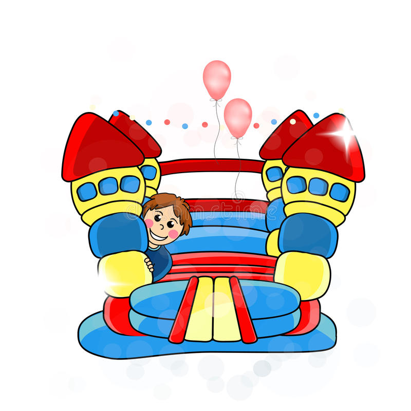 Download Bouncy Castle - Childrens Entertainment Stock Vector - Image: 34364725